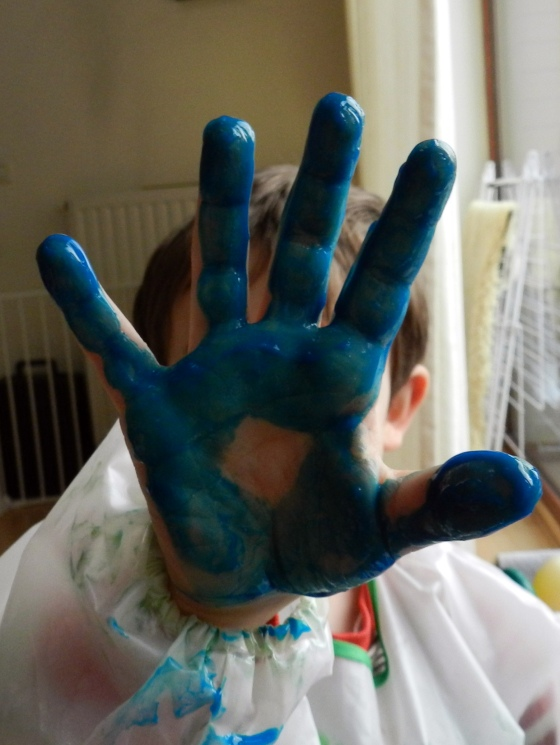 Finger painting hand
